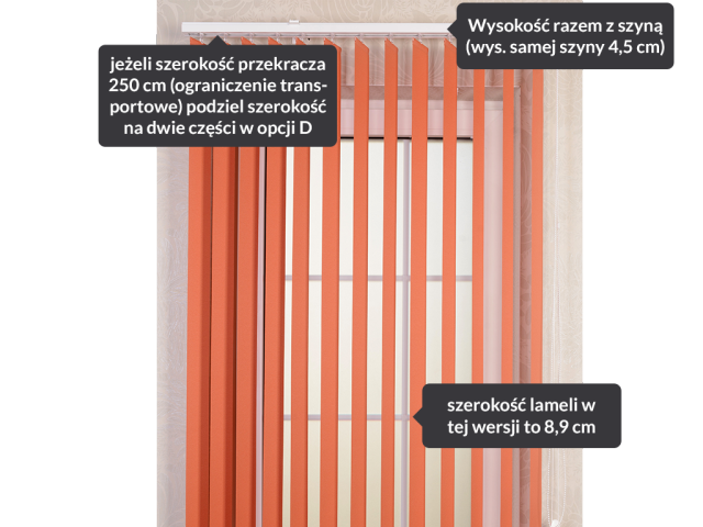 Vertical blinds 89
